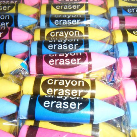 Crayon Erasers (Packs of 3) Novelty Rubbers
